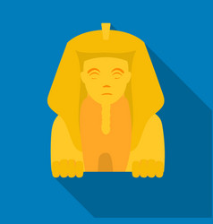 sphinx icon in flat style isolated on white vector image