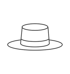 summer hat icon vector image vector image