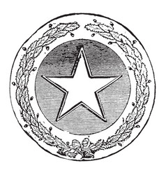 the official seal of the us state of texas in vector image vector image