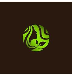 Woman Beauty and Spa Salon Logo vector image vector image