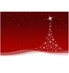 red christmas celebration vector image