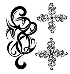 Tribal art tattoo vector image vector image