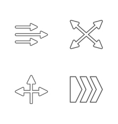 4 flat modern arrows vector