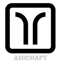 aircraft conceptual graphic icon vector image