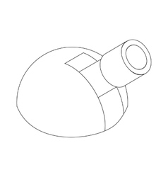 Astronomical observatory icon isometric 3d style vector image