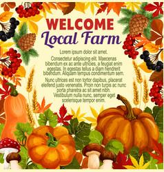 autumn sale poster for fall nature season design vector image