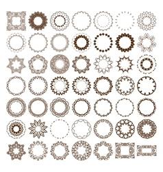 Big set of simple linear monograms vector image
