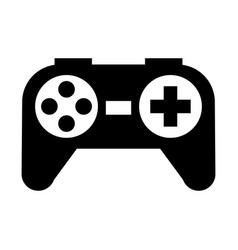 black icon control game cartoon vector image