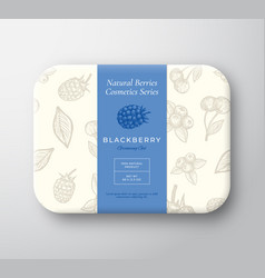 blackberry bath cosmetics package box abstract vector image