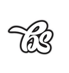 Bs b s black and white alphabet letter logo vector