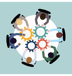 Business cooperation concept vector