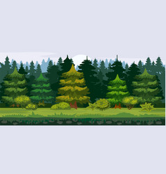 Cartoon of the spruce forest vector