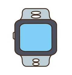 cartoon sport smart watch wearable technology vector image