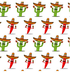 cinco de mayo seamless pattern vector image