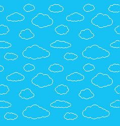 clouds seamless pattern background vector image
