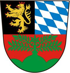 Coat of arms of weiden in upper palatinate in vector