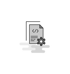 coding web icon flat line filled gray icon vector image