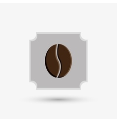 Coffee design frame icon White background vector image
