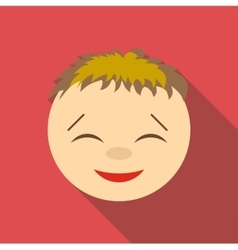 Cunning icon flat style vector