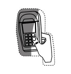 Dataphone transaction payment vector