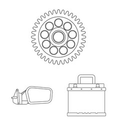 Design of auto and part logo set of auto vector