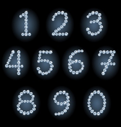 diamond numerals vector image