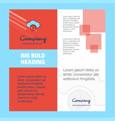 downloading company brochure title page design vector image