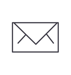 envelope line icon sign on vector image