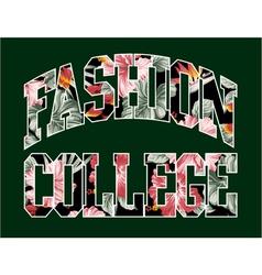 Fashion college vector