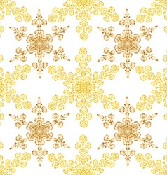 Festive seamless pattern with gold-colored vector