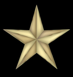 festive star isolated icon vector image