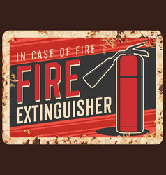 fire safety extinguisher usage banner vector image