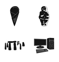 Food travel and or web icon in black style vector