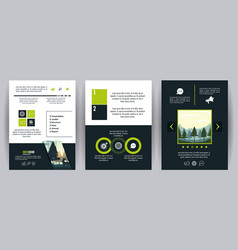 forest brochure infographic vector image