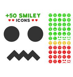 Fright smile icon with bonus avatar clipart vector