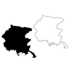 friuli-venezia giulia map vector image