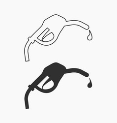 fuel icon black isolated for vector image