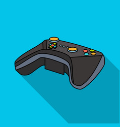 game controller for the virtual reality icon in vector image
