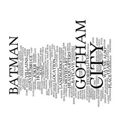 Gotham city text background word cloud concept vector