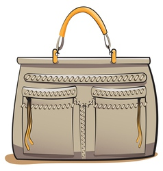 Gray ladies handbag vector