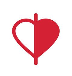 Half love logo icon design template elements vector