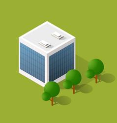 isometric urban architecture building vector image