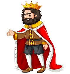 King with red robe vector