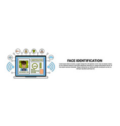 laptop computer identification system biometrical vector image