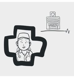 Medical care design nurse icon flat vector