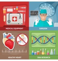 Medicine Flat Compositions vector