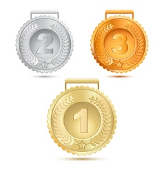 metallic medals vector image