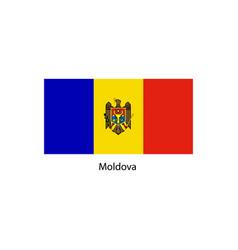 moldova flag moldova flag vector image