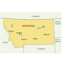 montana - state usa vector image