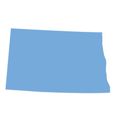 north dakota state map vector image